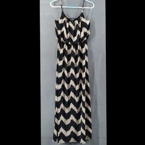 NWOT Delirious black and tan maxi dress
